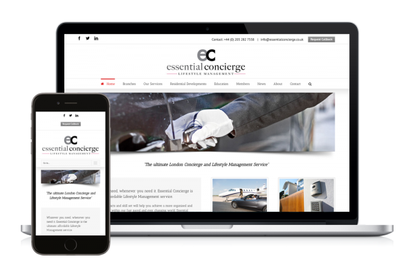 Essential Concierge Responsive Website