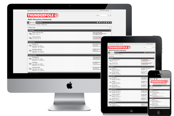 Thunderpole Forum Responsive Website
