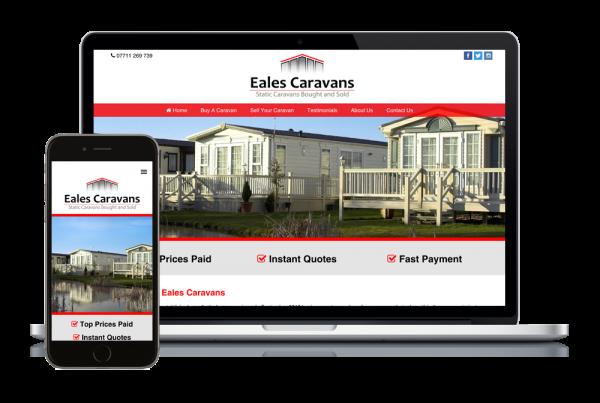Eales Caravans Responsive Website