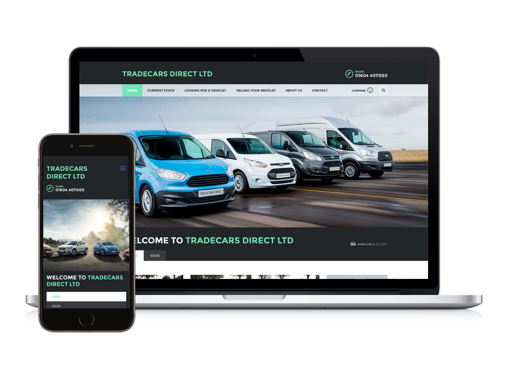 New WordPress Website for TradeCars Direct